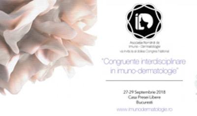 "Conferinta ""Congruente interdisciplinare in Imuno-Dermatologie"": Bucuresti, 27-29 septembrie"