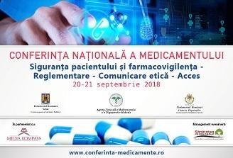 Conferința Națională a Medicamentului: 20-21 septembrie, București