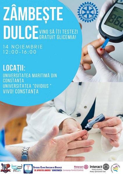 Ziua Mondială a Diabetului – Testare gratuită a glicemiei în Constanța