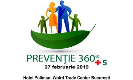 """Conferința """"Prevenție 360 + 5"""": 27 februarie 2019, București"""