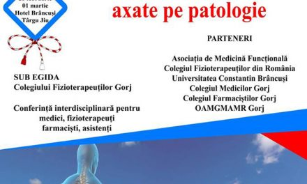"Conferința ""Recuperare și Fizioterapie, axate pe patologie"": Târgu Jiu, 28 februarie-1 martie"