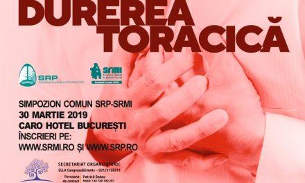 """Simpozion """"Durerea toracica"""": 30 martie, Bucuresti"""