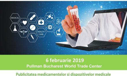 Conferința PRIA Drugs and Medicine Publicity: București, 6 februarie