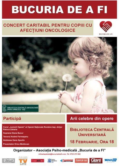 Concert caritabil pentru copiii cu afecțiuni oncologice