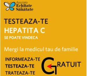 """Începe a doua campanie de testare """"Hepatita C se poate vindeca"""""""