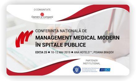 Conferința Națională de Management Medical Modern în Spitale Publice a ajuns la a 25-a ediție