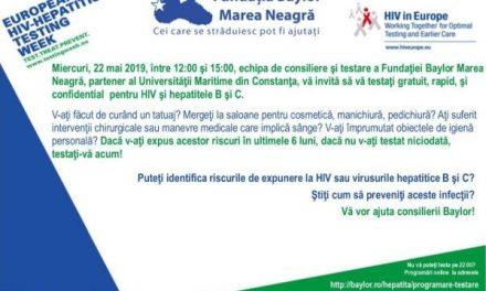 Testare gratuită pentru HIV și hepatită B și C la Universitatea Maritimă din Constanța