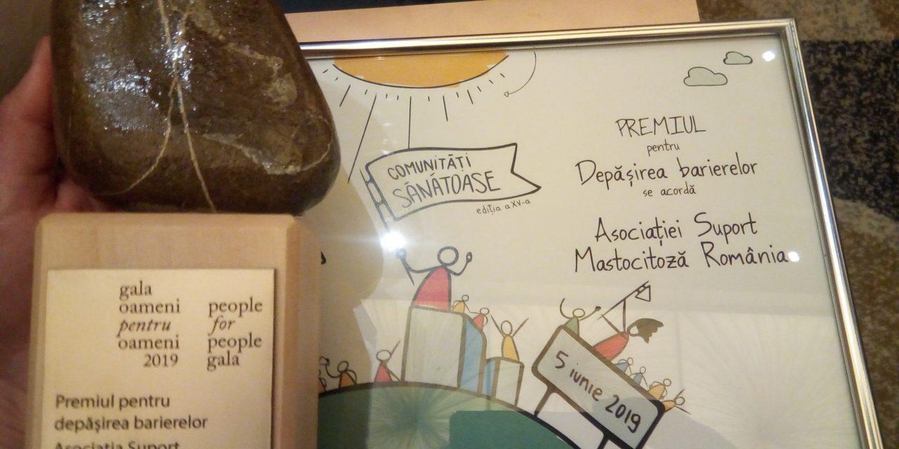 Asociația Suport Mastocitoză România, premiata la Gala Oameni pentru Oameni