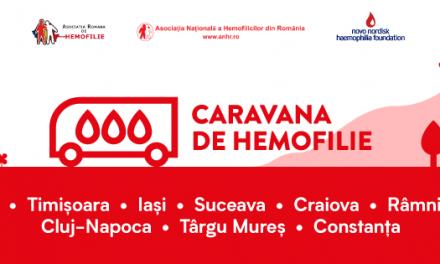 Caravana de hemofilie continuă sâmbătă la Cluj și duminică la Târgu Mureș
