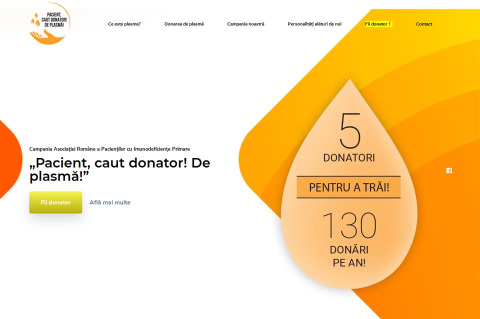 Asociaţia Română a Pacienţilor cu Imunodeficienţe Primare a lansat site-ul www.donatorplasma.ro