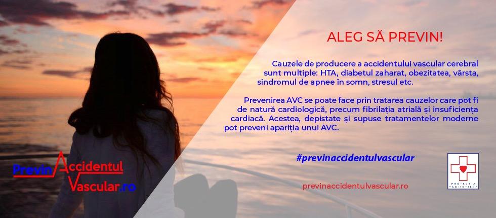 Campanie de informare şi educare privind prevenirea Accidentului Vascular Cerebral
