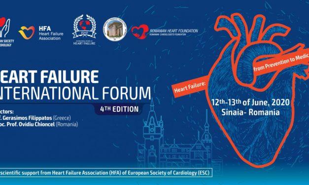 Forumul Internațional de Insuficiență Cardiacă: 12-13 iunie, Sinaia