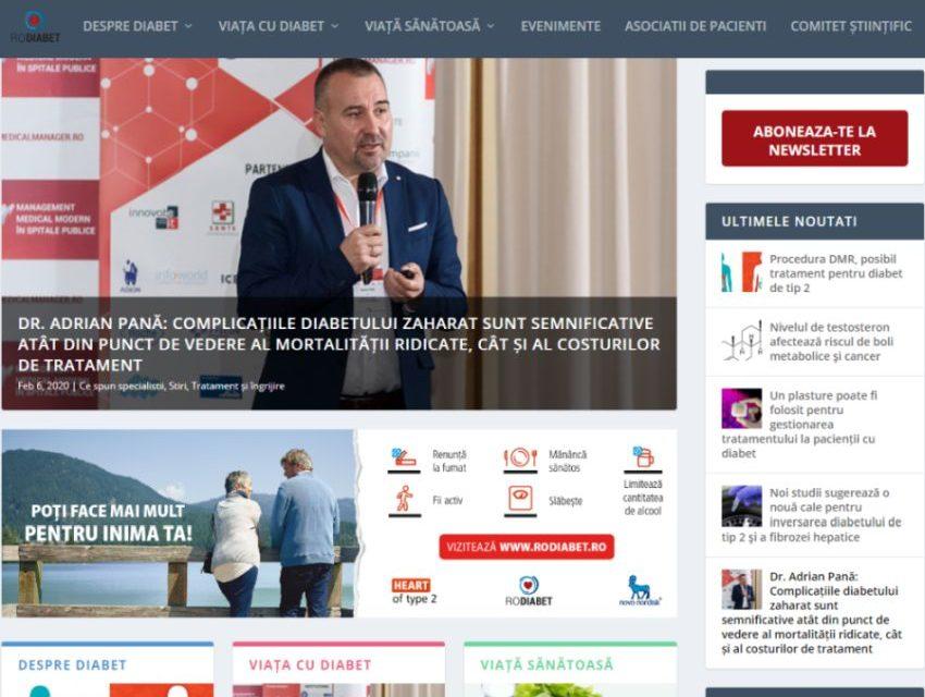 RoDiabet.ro – platforma unde pacienții cu diabet comunică cu medicii specialiști