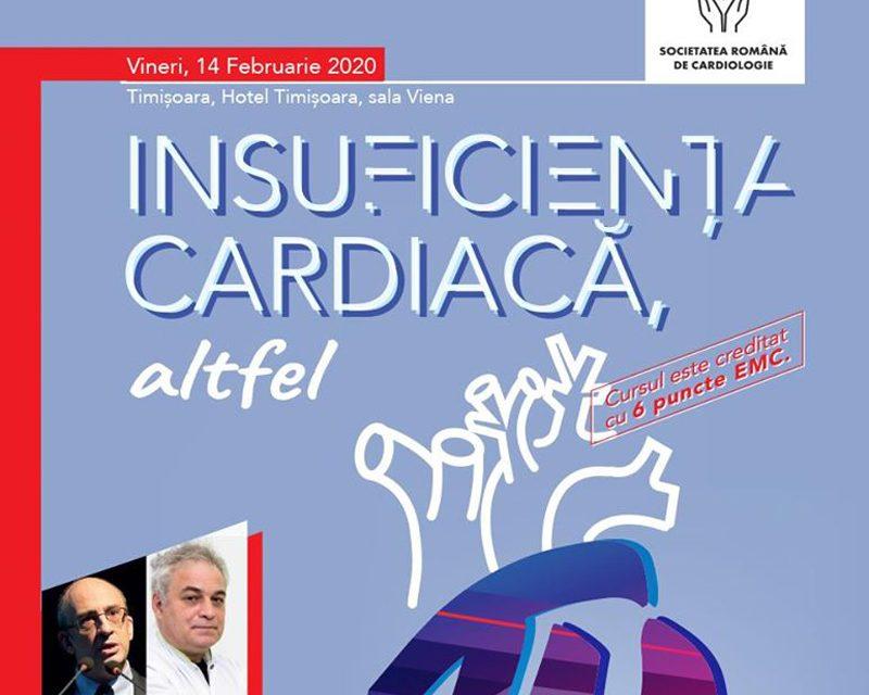"""Curs """"Insuficiența Cardiacă, altfel"""": Timișoara, 14 februarie"""
