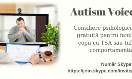 Autism Voice Line oferă consiliere psihologică on-line gratuită pentru familiile cu copii cu TSA sau tulburări comportamentale