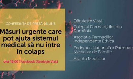 Daruieste Viata: 5 masuri urgente pentru a ajuta sistemul medical sa nu intre in colaps