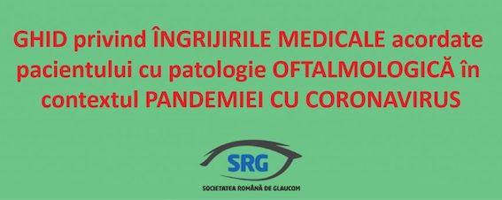Ghid privind îngrijirile medicale acordate pacientului cu patologie oftalmologică în contextul pandemiei cu Conoravirus