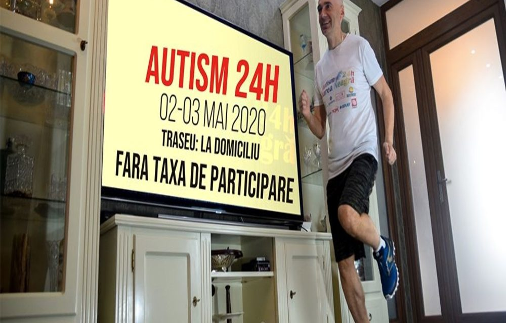 Ultramaratonul Autism24h: 150 de oameni vor alerga minim 100 km în… casă
