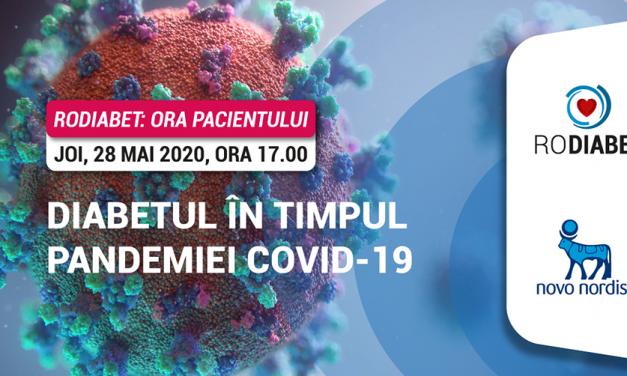 """""""Diabetul în timpul și după pandemia Covid – 19"""": tema primului Webinar RoDiabet """"Ora Pacientului"""""""