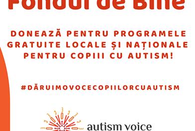 """Asociatia Autism Voice a lansat campania """"Fondul de Bine"""" pe Facebook"""