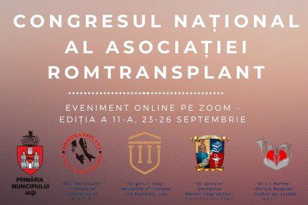 Congresul Național al Asociației Române Romtransplant, ediția a XI-a, Online: 22-26 septembrie