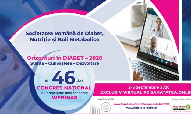 Congresul Național al Societății Române de Diabet, Nutriție și Boli Metabolice, exclusiv virtual: 2-8 septembrie 2020