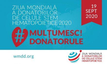 19 septembrie 2020, Ziua Mondială a Donatorilor de Celule Stem Hematopoietice