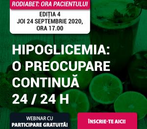 Hipoglicemia, din punctul de vedere al pacientului și medicului specialist, la cea de-a patra ediție a Orei Pacientului RoDiabet