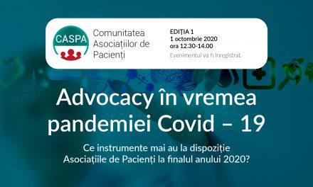 30 dintre membrii Comunității CASPA.RO s-au reunit la început de octombrie la prima întâlnire digitală a Comunității Asociațiilor de Pacienți
