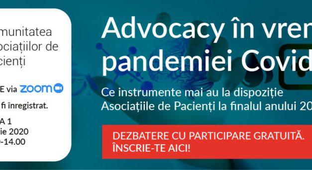 Prima întâlnire digitală a Comunității Asociațiilor de Pacienți CASPA.ro are loc pe 1 octombrie 2020