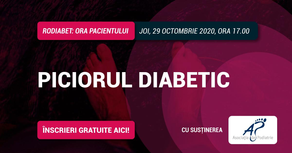 """Am deschis înscrierile la Webinarul """"RoDiabet: Ora Pacientului"""" din 29 octombrie. Tema ediției: Piciorul diabetic"""