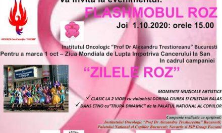 Flashmob roz la IOB, de Ziua Mondială de Luptă împotriva Cancerului de Sân