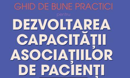Ghid de bune practici pentru dezvoltarea capacității asociațiilor de pacienți, în premieră în România
