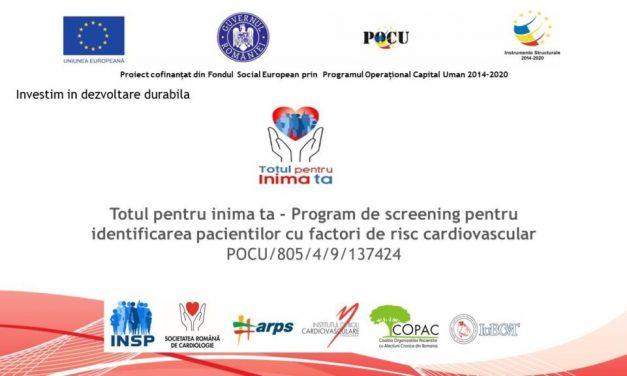 Program de screening pentru identificarea pacienţilor cu risc cardiovascular, lansat la INSP