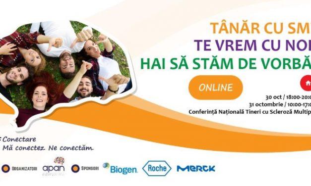 Conferința Națională a Tinerilor cu Scleroză Multiplă: 30-31 octombrie, București