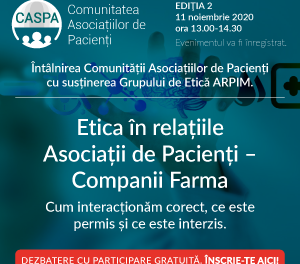 Discuții animate la cea de-a doua întâlnire a Comunității Asociațiilor de Pacienți