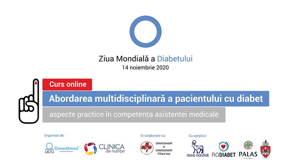 Curs dedicat asistenților medicali: Abordarea multidisciplinară a pacientului cu diabet