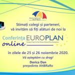 ANBRaRo organizează online Conferința Europlan