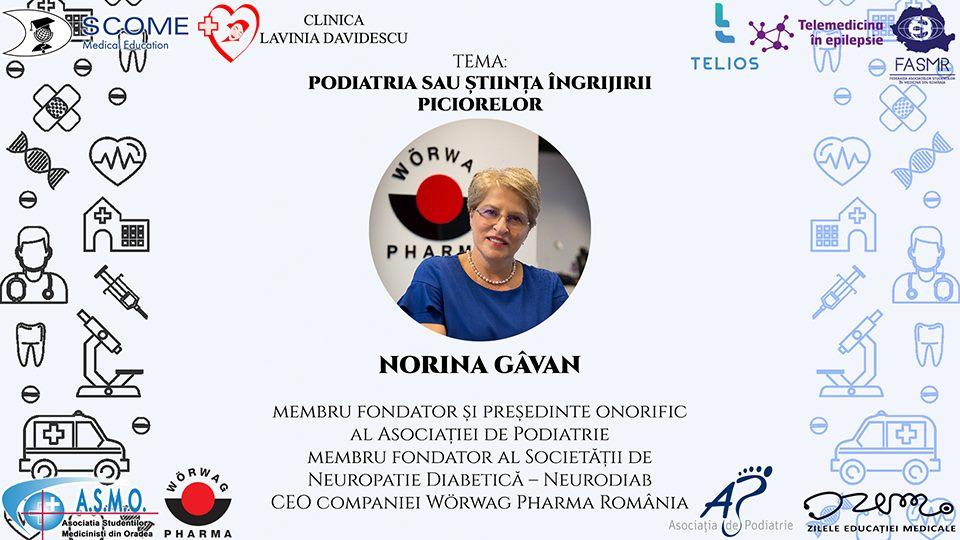 """Webinar """"Podiatria sau știința îngrijirii picioarelor"""", organizat de Asociația de Podiatrie alături de Zilele Educatiei Medicale Oradea"""