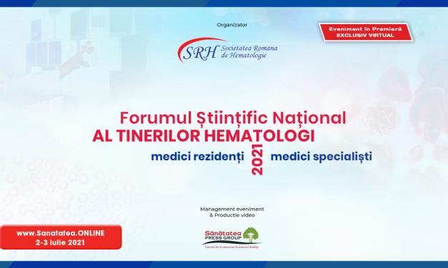 Societatea Română de Hematologie organizează Forumul Științific Național al tinerilor hematologi