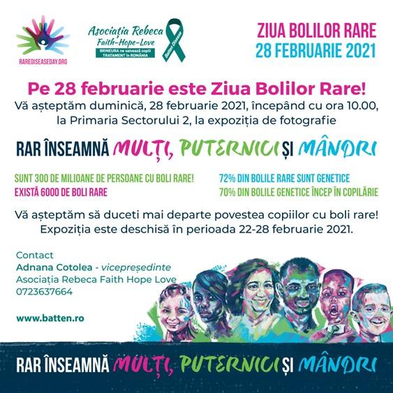 Asociația Rebeca Faith Hope Love aduce în prim plan bolile rare printr-un eveniment special