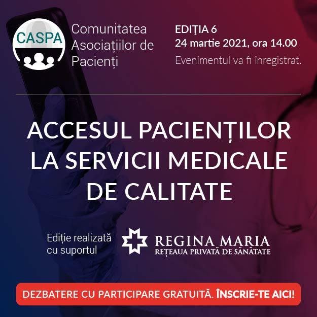 Comunitatea Asociațiilor de Pacienți se întâlnește digital miercuri, 24 martie, de la ora 14.00
