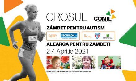 Asociația CONIL organizează în perioada 2-4 aprilie Crosul CONIL – Zâmbet pentru autism