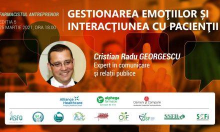 FARMACIA VIITORULUI: Învață cum îți gestionezi emoțiile și cum trebuie să interacționezi cu pacienții, la cea de-a cincea întâlnire din program