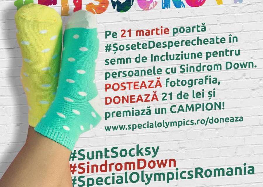 De Ziua Internațională a Sindromului Down, Special Olympics România vă provoacă să purtați #ŞoseteDesperecheate și să premiați Campionii