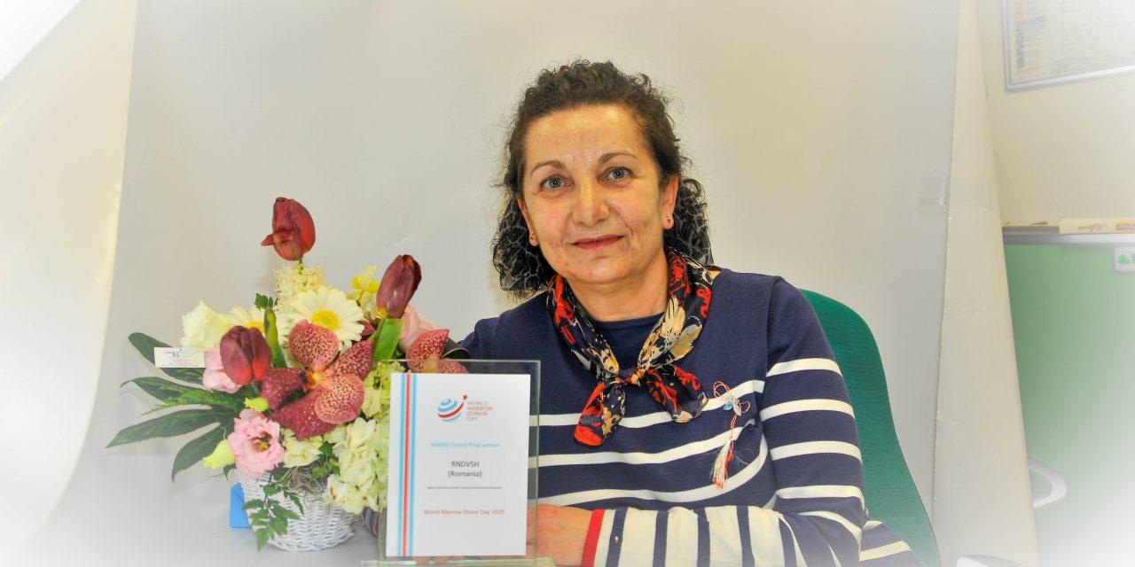 Marele premiu internațional al Asociației Mondiale a Donatorilor de Măduvă a fost acordat Registrului Donatorilor Voluntari de Celule Stem Hematopoietice din România