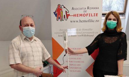 Asociația Română de Hemofilie a donat primul vizualizator de vene Centrului Medical Cristian Șerban din Buzias