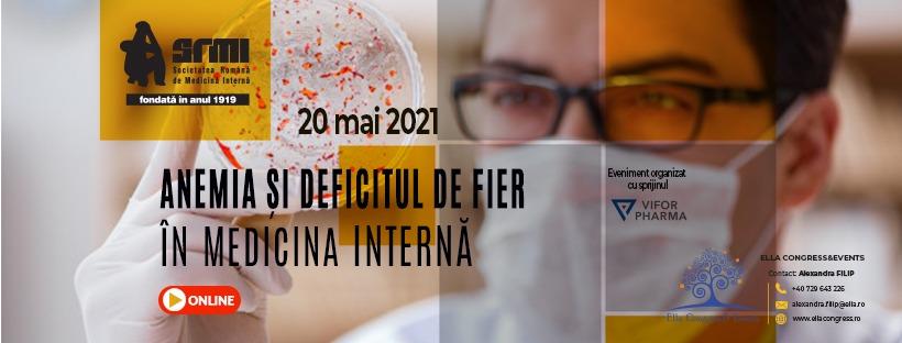 """Webinarul """"Anemia și deficitul de fier"""" va avea loc pe 20 mai"""