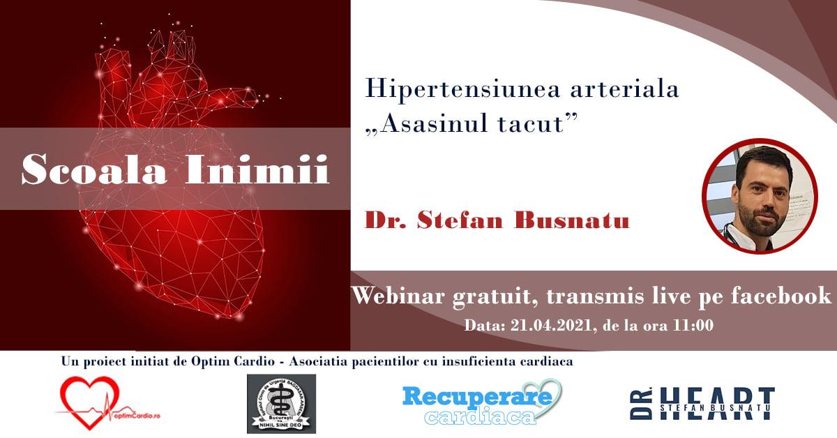 Episodul 7 din Școala Inimii cu Dr. Ștefan Busnatu – Hipertensiunea arterială sau asasinul tăcut