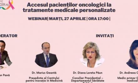 """Comunitatea OSC – DespreCancer.ro: Accesul la medicina personalizată și viitorul tratamentului oncologic au fost temele celei de-a doua întâlniri """"Ora pacientului"""""""